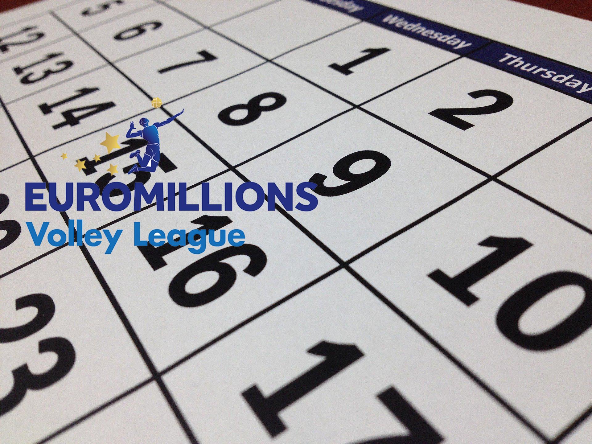 Euromillions Volley League Kalender 2020-202&